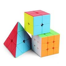 Roxenda ROX Speed CUBE-1687 Professional 2x2x2 3x3x3 Pyramid Cube Bundle... - $17.00
