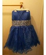 NWOT Royal Blue Gems Sleeveless Party Formal Prom Homecoming Dress, Size 2XL - $35.99