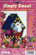 Janlynn Simply Sweet Home Tweet Home Bird House Flowers Cross Stitch Kit... - $14.62