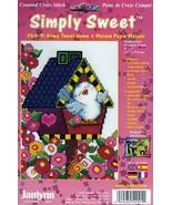 Janlynn Simply Sweet Home Tweet Home Bird House Flowers Cross Stitch Kit... - $14.62