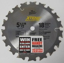 "Vermont American 26131 5-1/2"" 18T Carbide Xtend Cordless Circular Saw Bl... - $2.97"