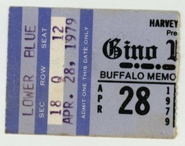RARE Gino Vannelli 4/28/79 Buffalo NY Memorial Auditorium Concert Ticket... - $2.96