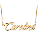 Caroline Name Necklace for Best Friends Family Girl Friend Birthday Gifts - $13.99+