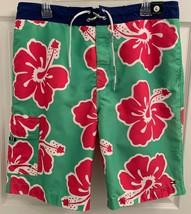 NWT Tommy Hilfiger Sz L Mens Green Red Cargo Board Shorts Swim Trunks w/... - $29.69