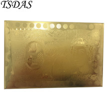 24k Gold Playing Cards UK 50 Pounds Golden Poker Cards Party Game Cards  - $8.70