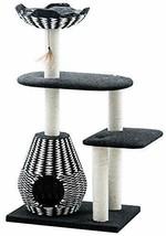 "Ace - PetPals Cat Tree & Condo-Four Level 27 x 19 x 49"", Black/White - €173,90 EUR"