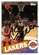 AC Green signed Los Angeles Lakers 1993 Topps Archives Basketball Trading Card # - $15.00