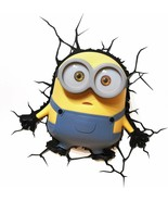 Bob Minions 3d Deco Light Despicable Me New Cordless Battery Operated  - $42.56