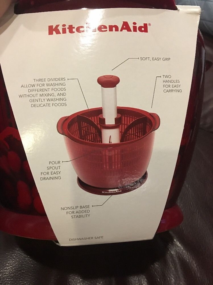New Kitchen Aid Salad & Fruit Spinner - Red and similar items