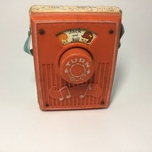 Fisher Price #772 Pocket Radio Music Box Vintage 1973 Jack and Jill Red ... - $14.84