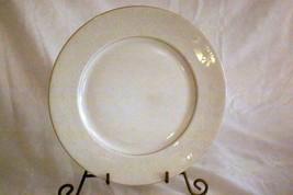 """Rosenthal White Velvet Dinner Plate 10 3/8"""" Continental Line Gold Trim - $10.39"""