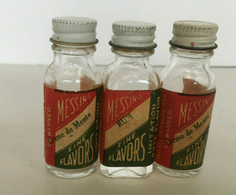 vintage empty messina fine flavors extract three  bottle lot old empty b... - $19.75