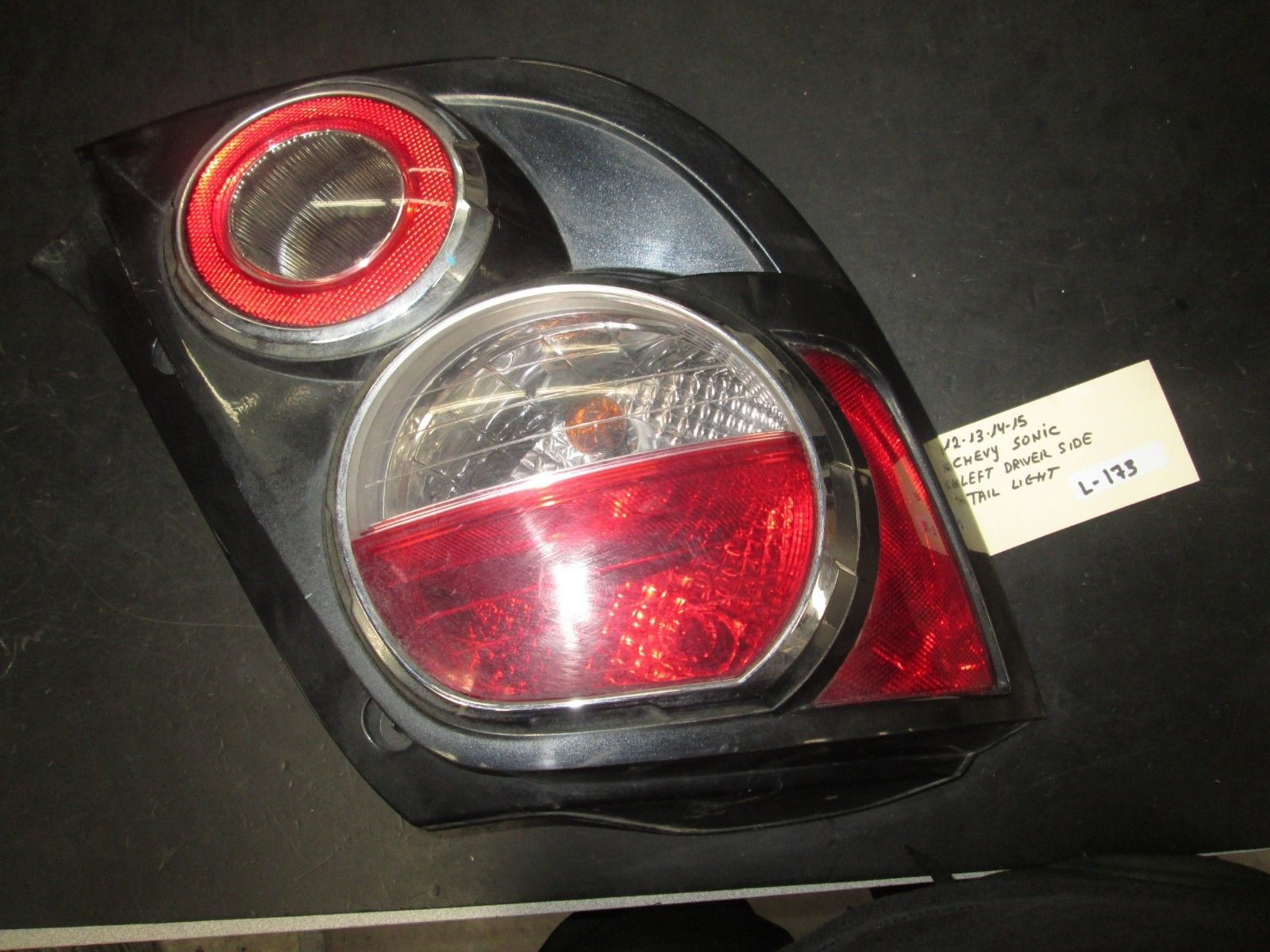 Primary image for 12 13 14 15 CHEVY SONIC LEFT DRIVER SIDE TAIL LIGHT