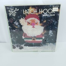 Vintage Hazel Pearson Saint Nick Pillow Latch Hook Kit Christmas Kitsch ... - $39.59