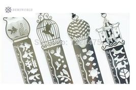 1pcs/lot NEW Retro Zakka Style Metal bookmark ruler drawing template - $2.59