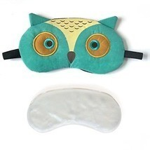 3D Cute Owl Eye Mask With Reusable Gel Pad, Cold Hot SPA Therapy For Dr... - £16.54 GBP