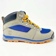 Timberland GT Scramble Mid Gray Blue Mens Waterproof Hiking Boots 2224R - $109.95
