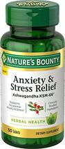 Nature's Bounty Anxiety and Stress Relief, Contains Ashwagandha and L-Theanine f image 2
