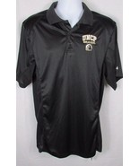 Mens NWT black polo style shirt Medium UNCP North Carolina PEMBROKE Braves  - $17.81