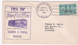 FIRST TRIP H.P.O. LEXINGTON & FLEMING, KY SEPTEMBER 1 1949 - $1.78