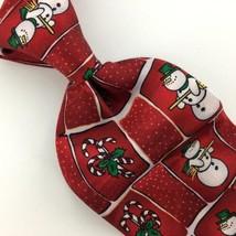 ZYLOS GOLD GEORGE MACHADO SNOWMAN CANDY CANE Christmas Necktie Ties X1-1... - $24.74