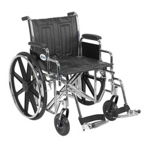 Drive Medical Sentra EC With Desk Arms and Footrests 20'' - $317.49