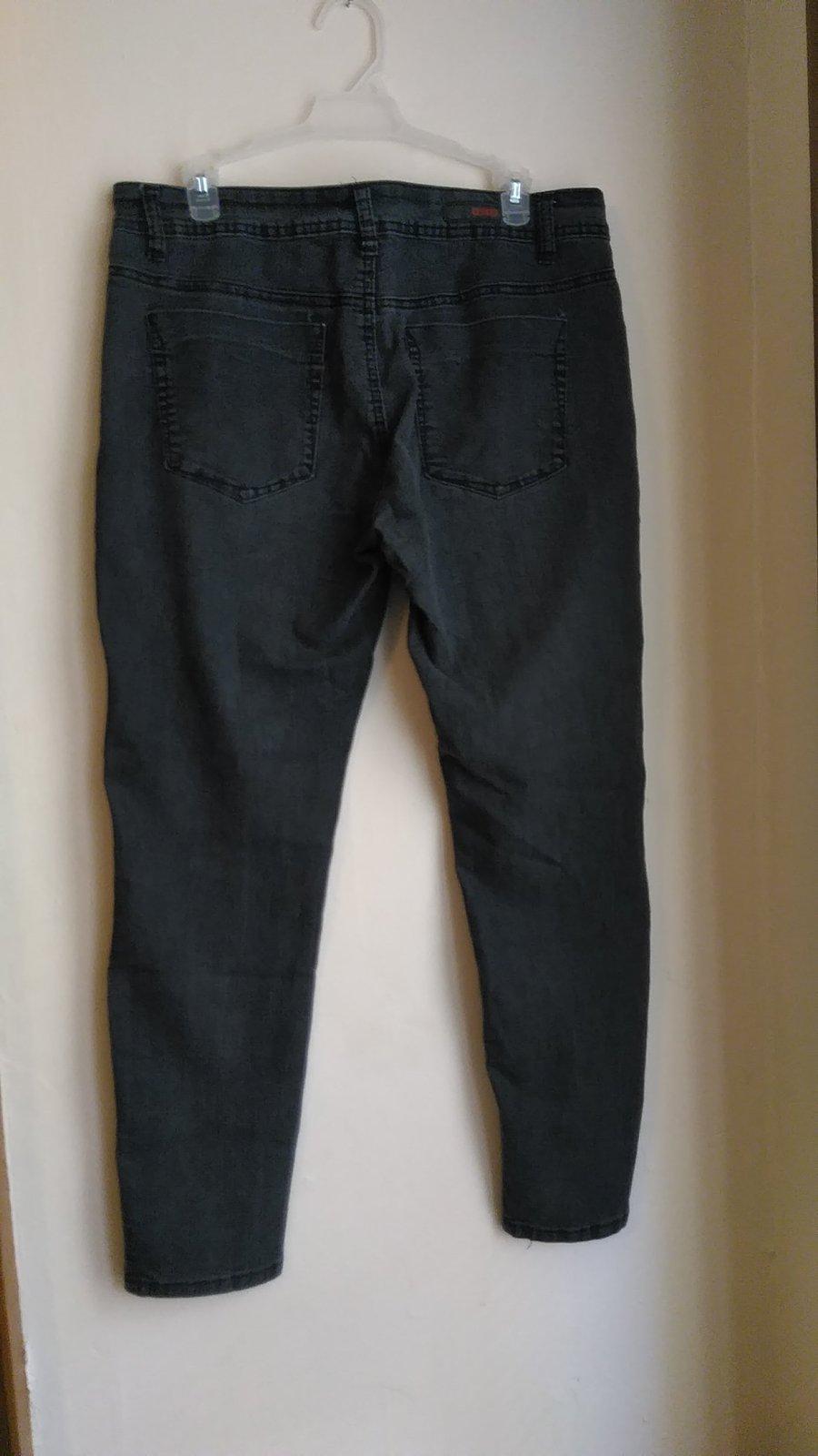 womans bongo black jeans size 13 jvc113