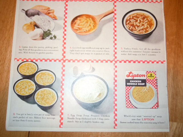 Vintage Lipton Chicken Noodle Soup Print Magazine Advertisement 1961 image 3