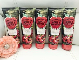 5 NewBath & Body Works CHAMPAGNE APPLE & HONEY Hand & Body Cream With Pu... - $61.88