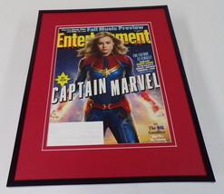 Captain Marvel Brie Larson Framed ORIGINAL 2018 Entertainment Weekly Cover - $32.36