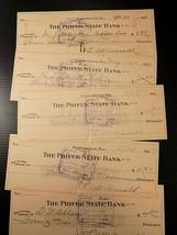 5 ANTIQUE BANK CHECKS 1927 The Phifer State Bank Gainesville Fl Set of 5 - $3.95