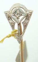 14K Gold Art Deco Stick Pin with Genuine Natural Diamond (#2684) - $128.25