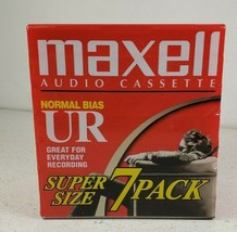 Maxell UR-90 Blank Audio Cassette Tapes - Super Size 7 Pack 90 Min New S... - $16.02