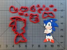 Fast Hedgehog Video Game - Blue Hedgehog Body 266-634 Cookie Cutter Set - $8.50+
