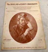 1954 SHEET MUSIC THE BALLAD OF DAVY CROCKETT WALT DISNEY PROD FESS PARKE... - $26.48