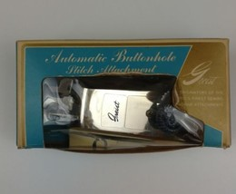 Vintage Greist The Buttonholer Automatic Buttonhole Stitch Attachment Mo... - $24.40