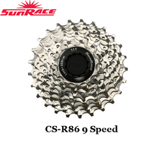 New Sunrace CS-R86 9 Speed Road Bike Cassette 11-25T 11-28T Silver - $25.89