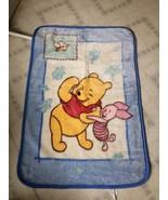Winnie The Pooh Piglet Plush Blanket Crown Crafts Disney Baby Acrylic ve... - $37.16