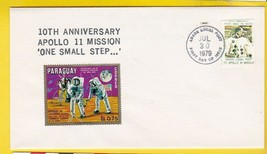 APOLLO 11 10TH ANNIV. COVER TOUCHED MOON ROCK & APOLLO 11 ARABA LOCAL PO... - $6.78