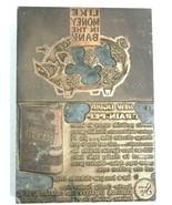 Vintage Antique Letter Press Printing Plate Piggy Bank Drain-Pep Radiato... - $37.37