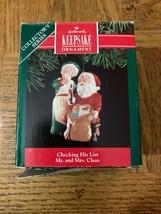 Checking His List Christmas Ornament - $18.50