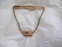 Vintage Swank 12KGF Engraveable Clip Tie Clasp  Bar - $16.82