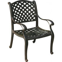 Patio dining chairs set of 6 Nassau cast aluminum patio furniture outdoor Bronze image 3