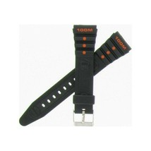 Hadley-Roma 19mm Black/Orange Men's Diver's Strap MSM3125/MSM925RAJ... Shipsfree - $8.38