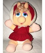 Vintage 1987 MISS PIGGY Christmas Plush Doll McDonald's Muppet Babies Re... - $9.89