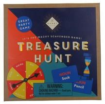 Treasure Hunt Wacky Scavenger Game Family Night Spinner Cards Professor ... - $2.39