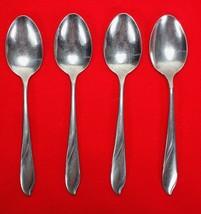 "4X Teaspoons Spoons Gorham Silver Lisa Stainless Glossy Flatware 6"" Tea ... - $23.76"