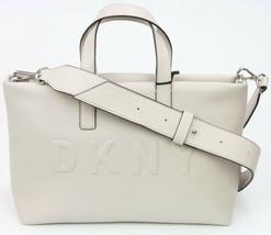 DKNY Donna Karan Tote Bag Tilly Faux Leather Light Beige Medium Handbag ... - $157.84