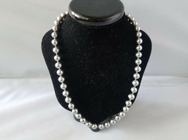Kissaka Vintage Signed Necklaces Faux Pearl Bead Cream Silver - $46.49