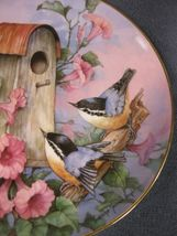 Royal Doulton Nuthatch Nook Collector Plate Carolyn Shores Wright Franklin Mint image 3